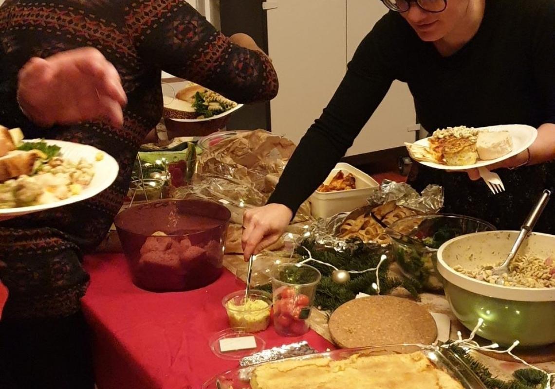 Kerstmaaltijd met film